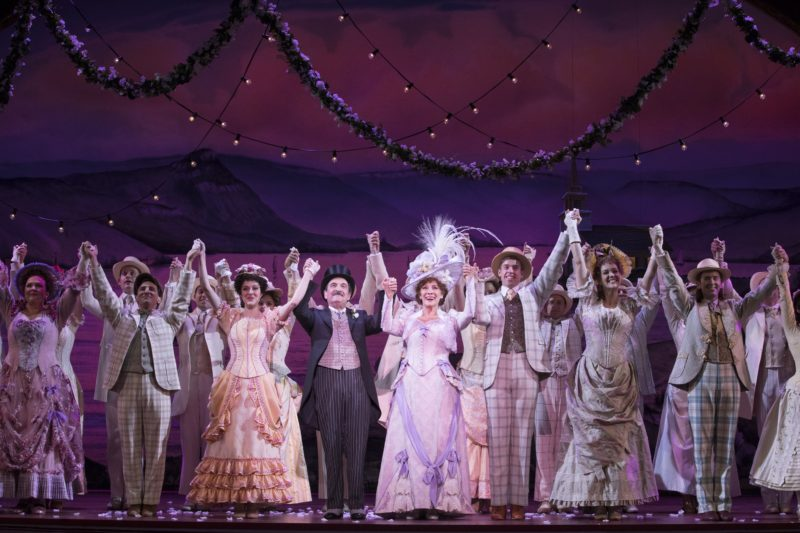 Betty Buckley and Lewis J. Stadlen lead the cast in a final bow at the end of the performance.