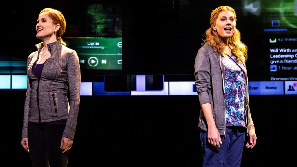 PS - Dear Evan Hansen - first national tour - Christiane Noll as Cynthia Murphy - Jessica Phillips as Heidi Hansen - 2018 - Matthew Murphy