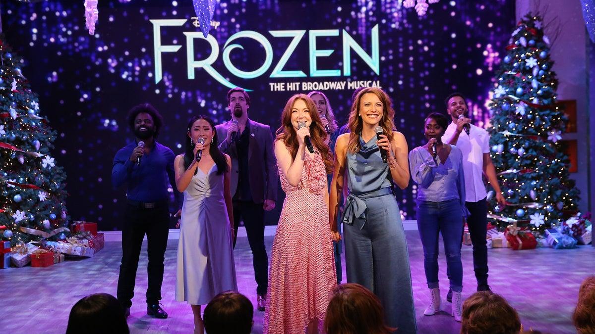 TOUR-Frozen-Caroline Innerbichler-Caroline Bowman-Frozen Tour Company on The Talk-12/19